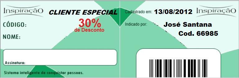 Cadastro de revendedor Inspiração Perfumes, José Santana código 66985